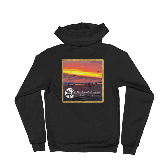 California Beach Sunset Hoodie sweater
