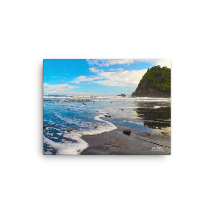 Pololu Valley Surf Giclée Photo Canvas Print - Size: 12x16 (wrap style)