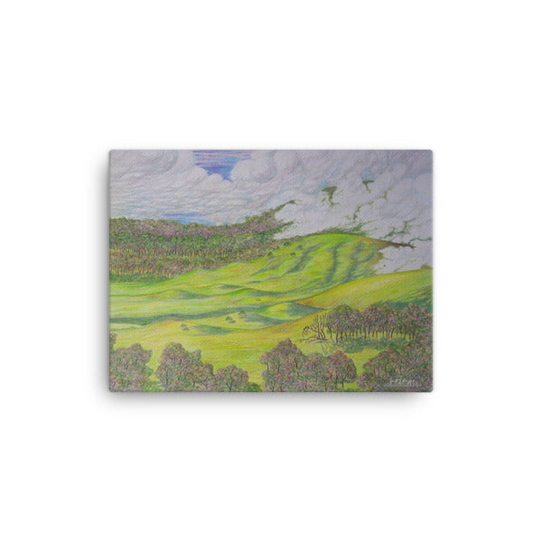 WAIMEA HILLS (Full Giclée Canvas Print) SIZE: 12x16 - Shella Island Products,, Canvas Prints - Yoga Leggings, Shella Island Products - Asana Hawaii