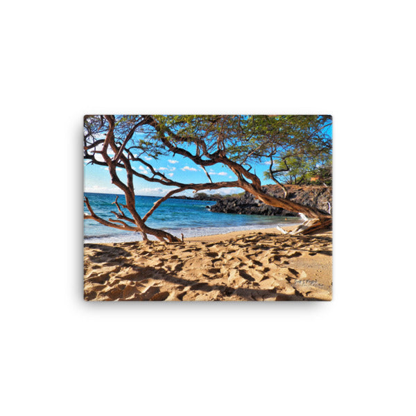 Waialea Bay Beach 69s (Giclée Photo Canvas Print wrap style print)- Size: 12x16 - Shella Island Products,, Canvas Prints - Yoga Leggings, Shella Island Products - Asana Hawaii