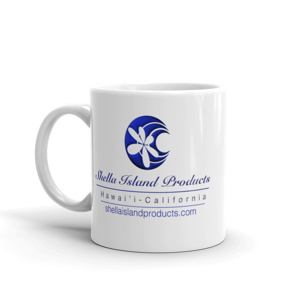 Humpback Whale Shella Island Products Logo Mug - Shella Island Products,, Mugs - Yoga Leggings, Shella Island Products - Asana Hawaii