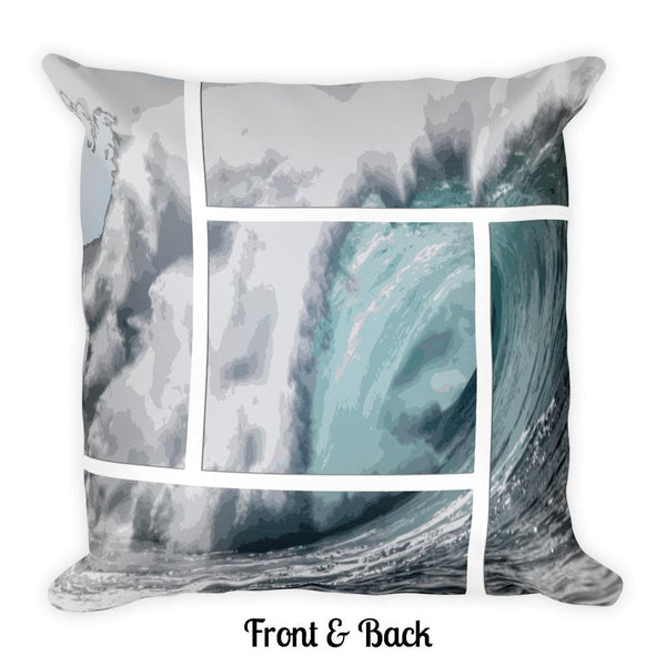 Epic Big Wave Framed Square Pillow