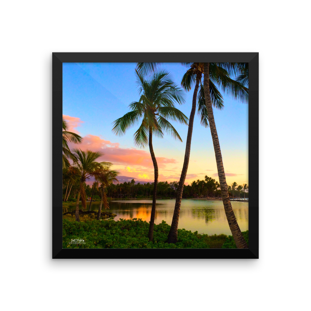ANAEHO'OMALU BAY AT DUSK - Framed photo paper - Shella Island Products,, Photo Print - Yoga Leggings, Shella Island Products - Asana Hawaii