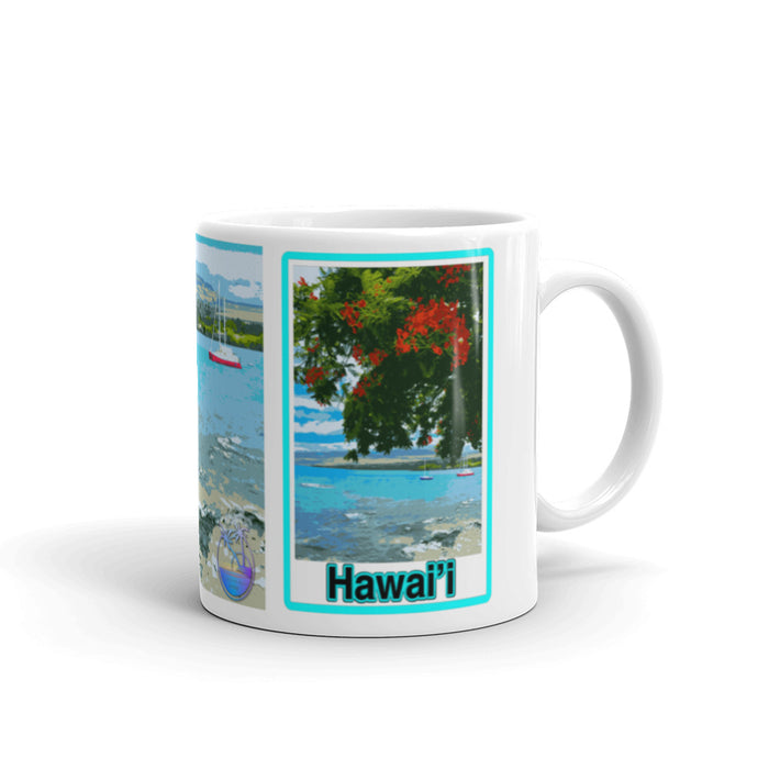 Boats in Puako Bay Mug