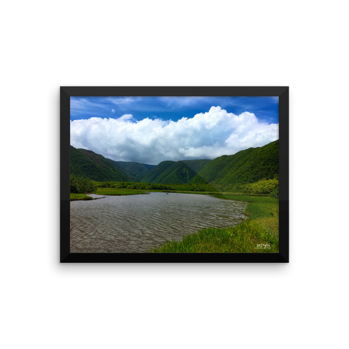 Pololū Valley River Framed Photo Paper