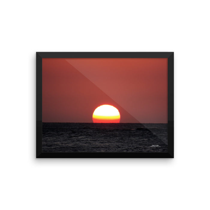ETERNAL SUNSET ON THE KONA COAST - FRAMED GLOSSY PHOTO PAPER - SIZE: 12X16 IN - Shella Island Products,, Photo Print - Yoga Leggings, Shella Island Products - Asana Hawaii