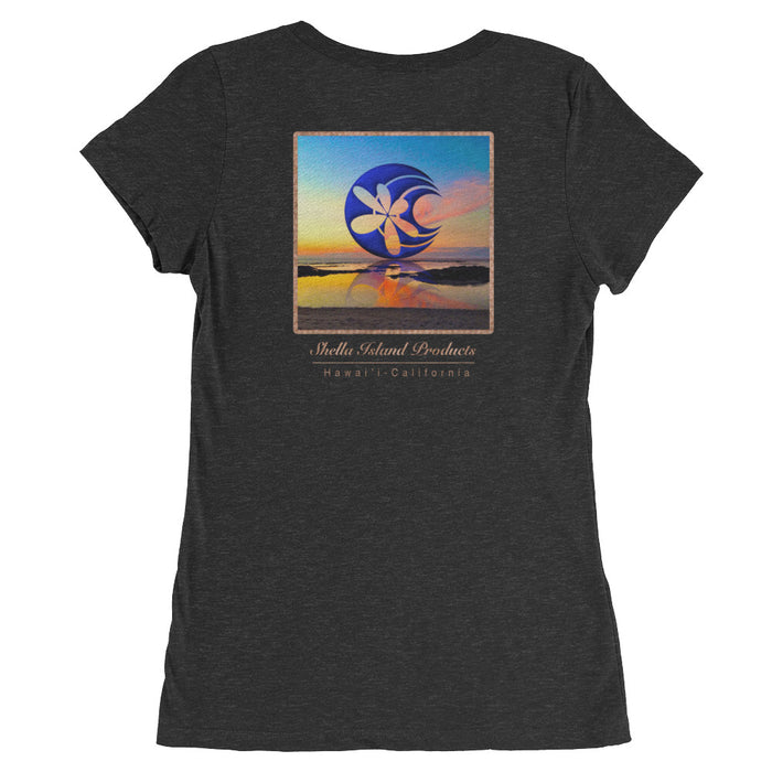 Shella Island Products Ocean Reflective Scoop Neck Ladies' short sleeve t-shirt