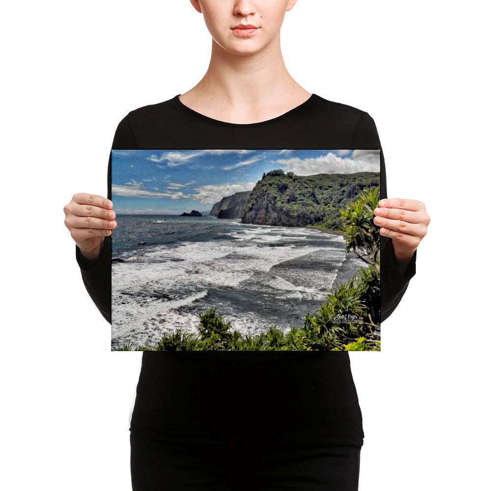 Pololu Valley Tranquility Giclée Canvas Photo Print- Size: 12x16 (wrap style) - Shella Island Products,, Canvas Prints - Yoga Leggings, Shella Island Products - Asana Hawaii