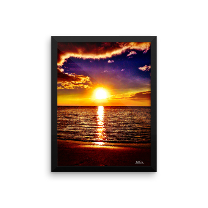 KOHALA COAST SUNSET AT BEACH 69S Framed photo paper