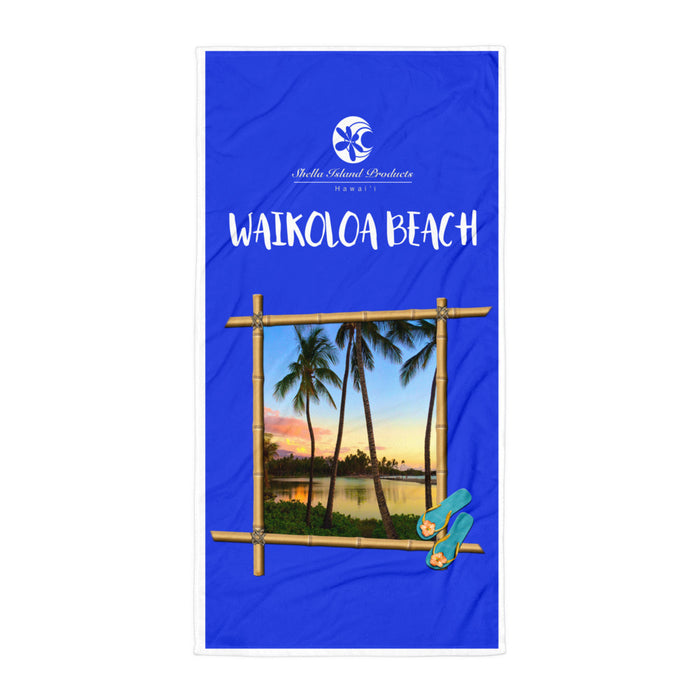 Waikoloa Beach Towel - Shella Island Products,, Beach Blanket - Yoga Leggings, Shella Island Products - Asana Hawaii
