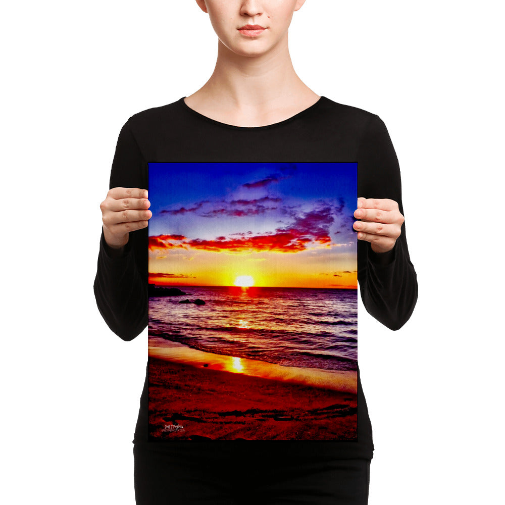 Beach 69s Blue Sunset Giclée Canvas Photo Print - Size: 12x16 (Full Print) - Shella Island Products,, Canvas Prints - Yoga Leggings, Shella Island Products - Asana Hawaii