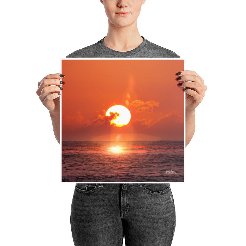 EPIC KOHALA SUNSET - GLOSSY PHOTO PAPER SIZE: 14X14 in