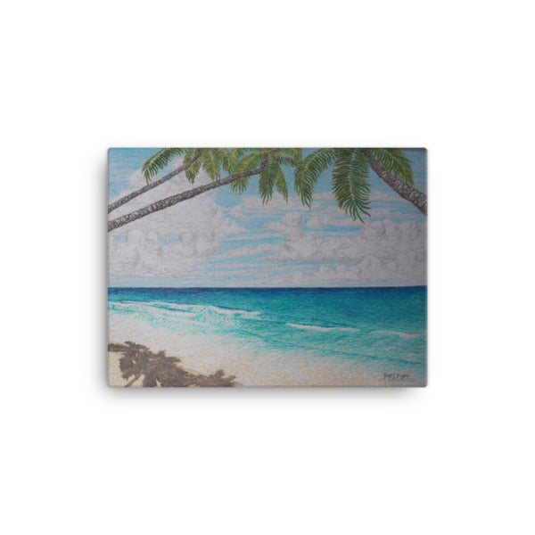 Puako Palm Beach Giclée Canvas Print- Size: 12x16 - Shella Island Products,, Canvas Prints - Yoga Leggings, Shella Island Products - Asana Hawaii