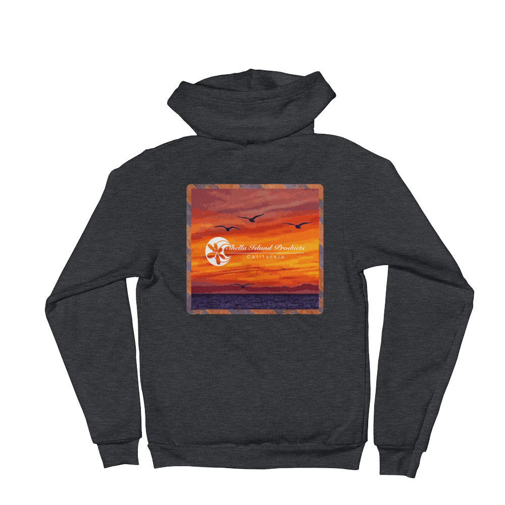 California Sunset Hoodie sweater - Shella Island Products,, Hoodie sweater - Yoga Leggings, Shella Island Products - Asana Hawaii