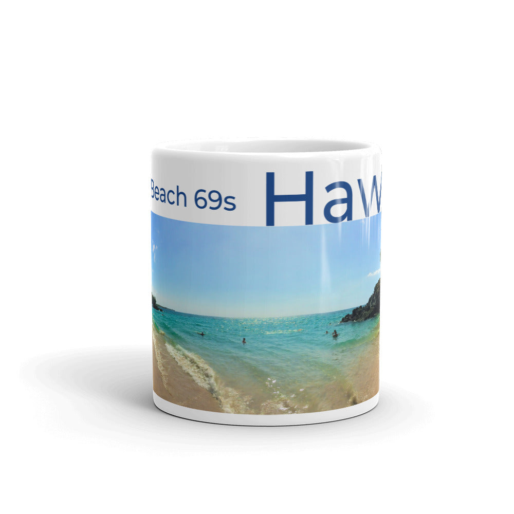 Puako Beach 69s Hawai'i Mug - Shella Island Products,, Mugs - Yoga Leggings, Shella Island Products - Asana Hawaii