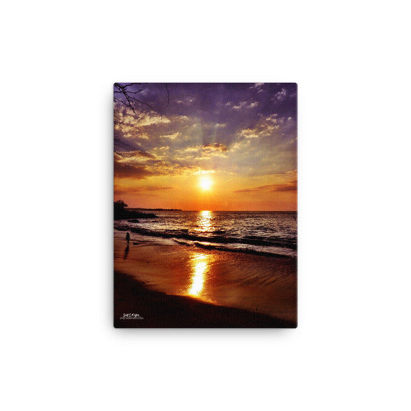Sunset at Beach 69s (Full Giclée Canvas Photo Print)- Size: 12x16