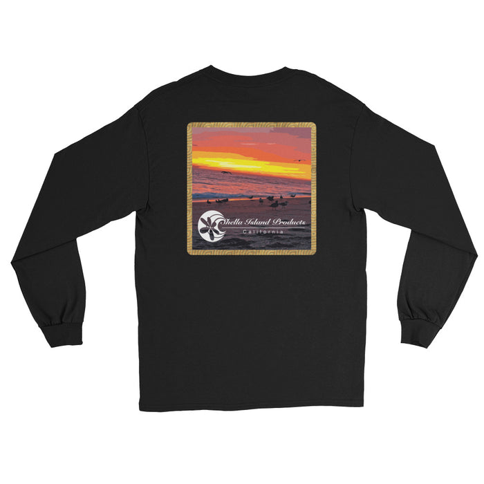 California Sunset (part 2) Long Sleeve T-Shirt - Shella Island Products,, T-Shirts - Yoga Leggings, Shella Island Products - Asana Hawaii