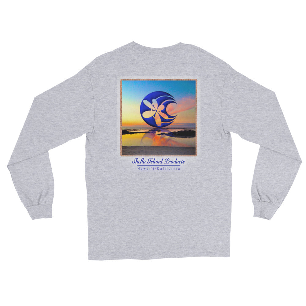 Shella Island Products Ocean Reflective Long Sleeve T-Shirt - Shella Island Products,, T-Shirts - Yoga Leggings, Shella Island Products - Asana Hawaii