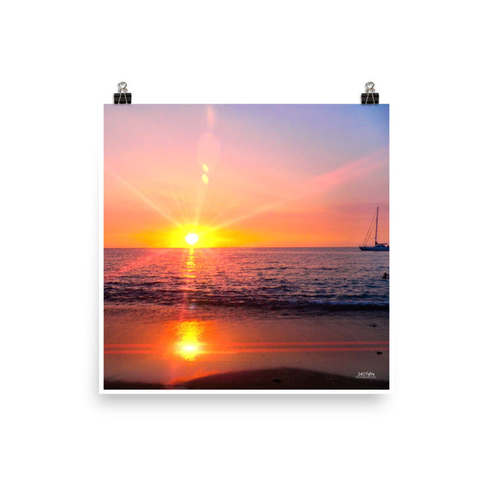 ABAY PRISM SUNSET - GLOSSY PHOTO PAPER - SIZE: 14x14 in