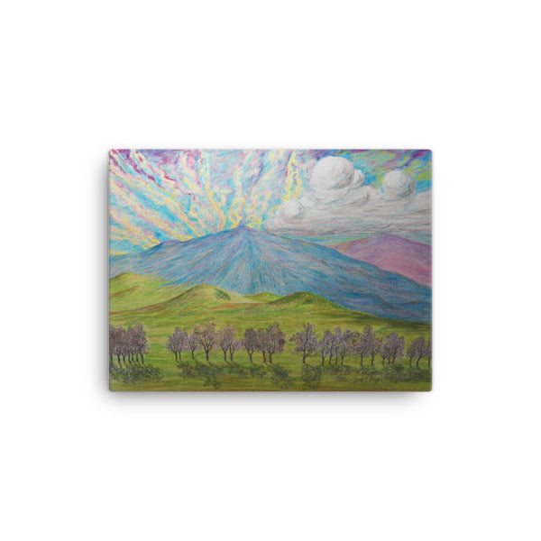 Mauna Kea Sunrise (Full Giclée Canvas Art Print)- Size: 12x16 - Shella Island Products,, Canvas Prints - Yoga Leggings, Shella Island Products - Asana Hawaii