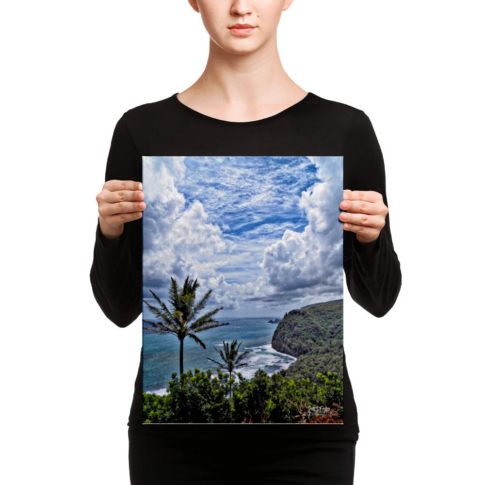 Parting of the Heavens at Pololu Valley Photo Giclée Canvas Print- Size: 12x16 (Full Size) - Shella Island Products,, Canvas Prints - Yoga Leggings, Shella Island Products - Asana Hawaii