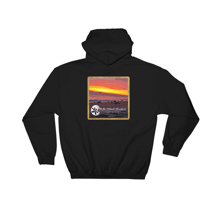 California Sunset (Part 2) Hooded Sweatshirt - Shella Island Products,, Sweatshirt - Yoga Leggings, Shella Island Products - Asana Hawaii