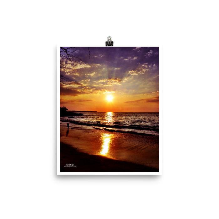 BEACH 69s SUNSET - GLOSSY PHOTO PAPER SIZE: 8x10 in - Shella Island Products,, Photo Print - Yoga Leggings, Shella Island Products - Asana Hawaii