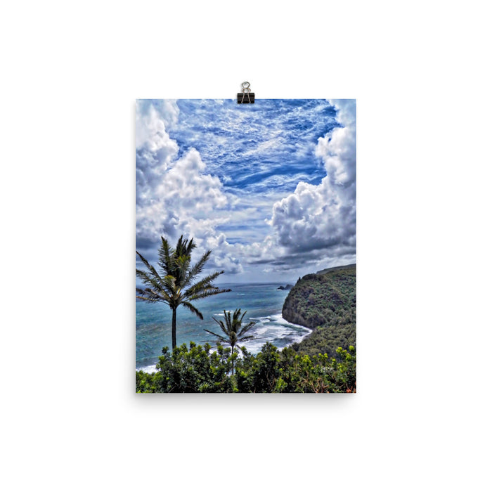 "POLOLU VALLEY ""PARTING OF THE HEAVENS"" - GLOSSY PHOTO PAPER - SIZE: 12x16 in - Shella Island Products,, Photo Print - Yoga Leggings, Shella Island Products - Asana Hawaii"