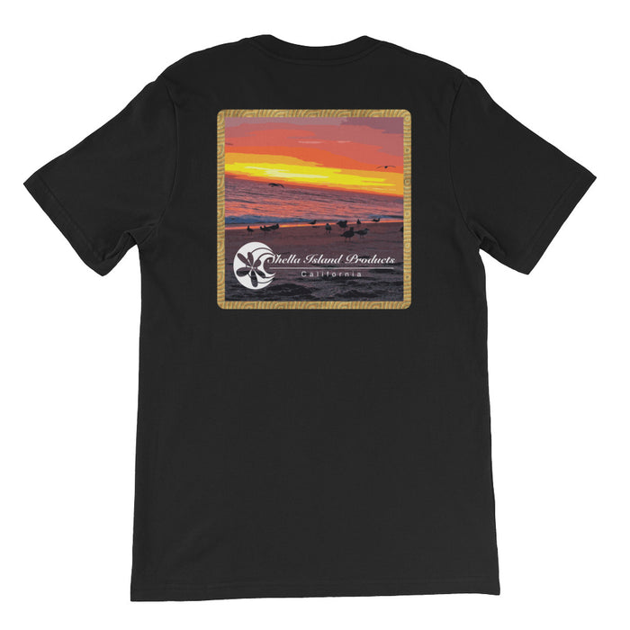 California Beach Sunset Short-Sleeve Unisex T-Shirt
