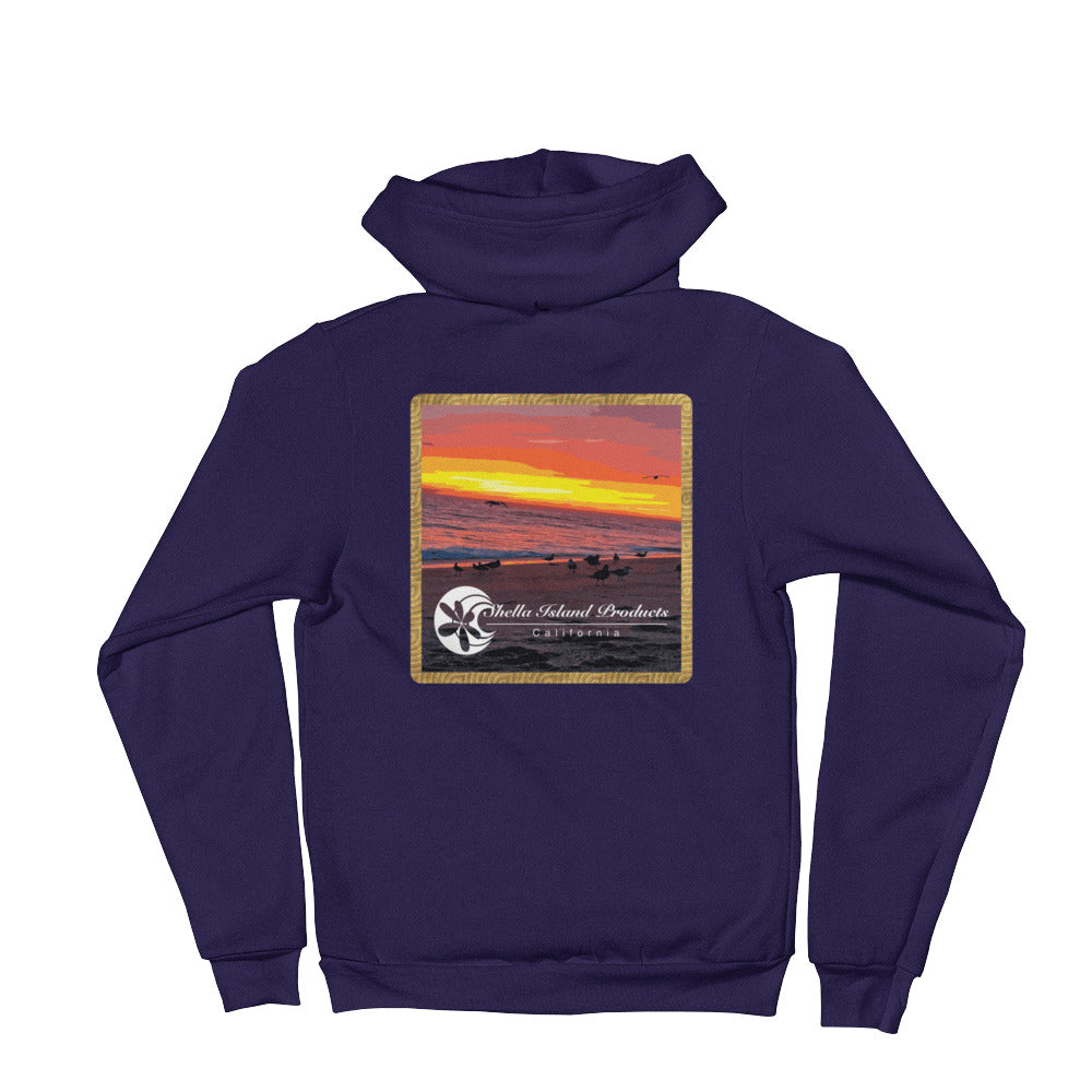California Beach Sunset Hoodie sweater - Shella Island Products,, Hoodie sweater - Yoga Leggings, Shella Island Products - Asana Hawaii