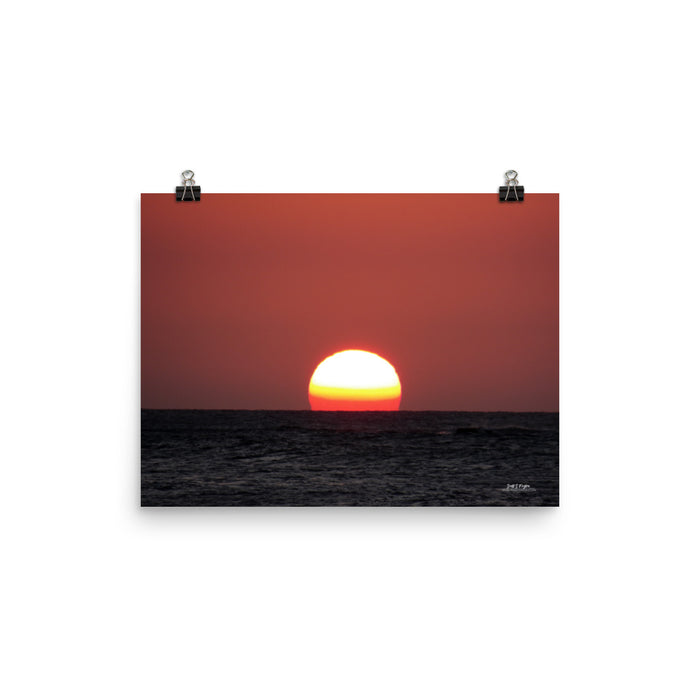 ETERNAL SUNSET ON THE KONA COAST - GLOSSY PHOTO PAPER - SIZE: 12x16 in - Shella Island Products,, Photo Print - Yoga Leggings, Shella Island Products - Asana Hawaii