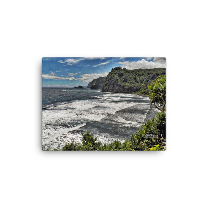 Pololu Valley Tranquility Giclée Canvas Photo Print- Size: 12x16 (wrap style)