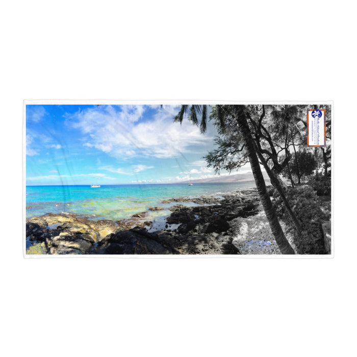Puako Beach Towel - Shella Island Products,, Beach Blanket - Yoga Leggings, Shella Island Products - Asana Hawaii