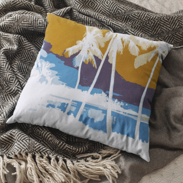 Hawai'ian Palms Square Pillow - Shella Island Products,, Pillow's - Yoga Leggings, Shella Island Products - Asana Hawaii