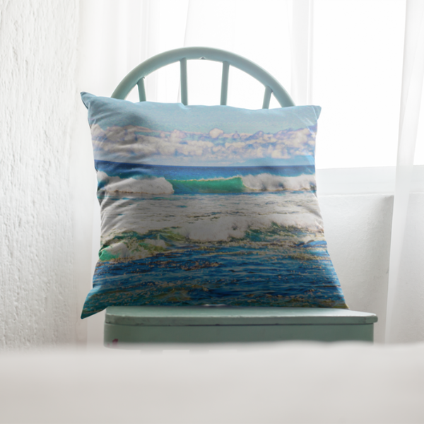 Puako Waves Square Pillow