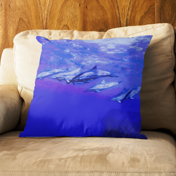 Dolphin Troop Square Pillow