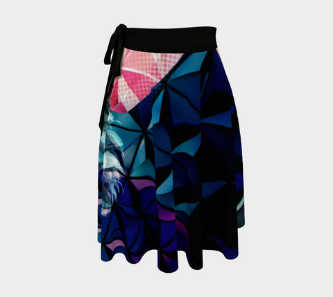 Geodesic Floral Wrap Skirt