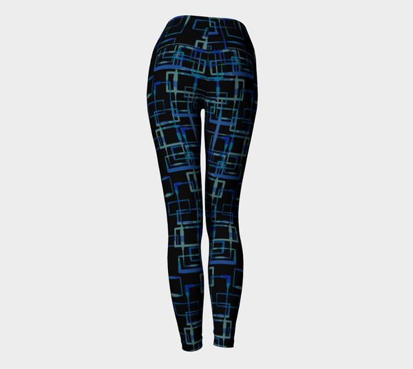 Pathways in Black Yoga Leggings