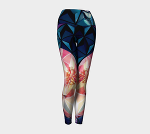 Geodesic Floral Yoga Leggings