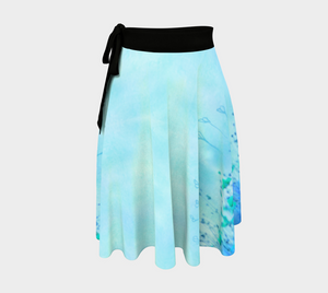 Field of Blues Wrap Skirt