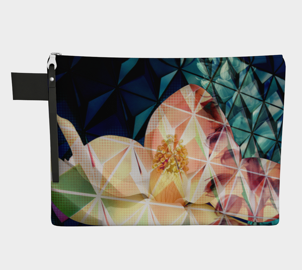 Geodesic Floral Zipper Carry-all