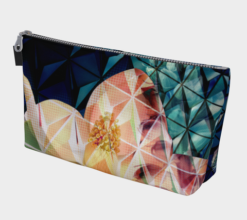 Geodesic Floral Clutch/Makeup Bag