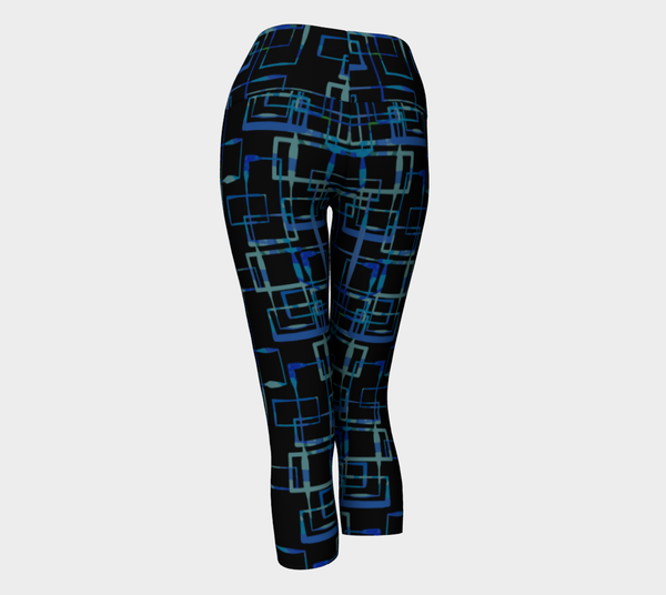 Pathways in Black Yoga Capri