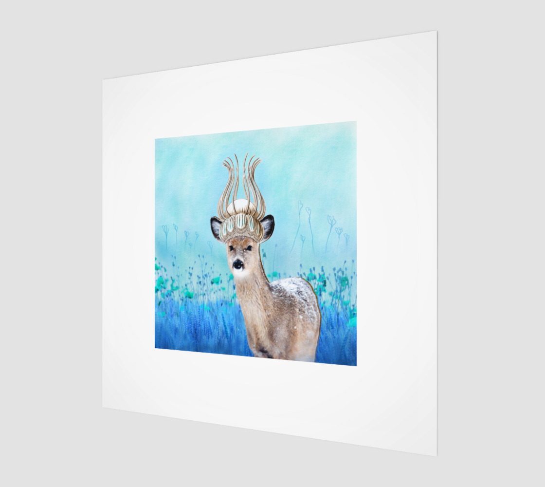 Crowned Deer Art Print