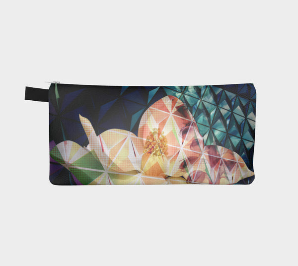 Geodesic Floral Pouch/Pencil Case