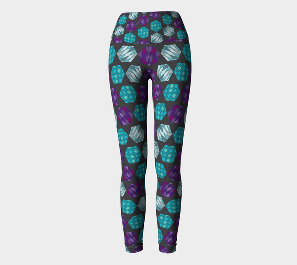 Hexagon Mosaic Yoga Leggings