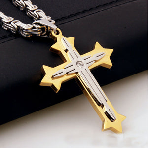 Gold cross necklace vip fashion shop gold cross necklace mozeypictures Image collections