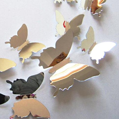 MIRRORED 3D BUTTERFLIES