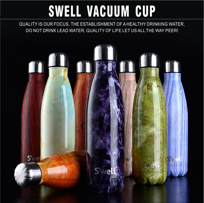 S'well Vacuum Insulated Stainless Steel Water Bottle, Double Wall, 17 oz