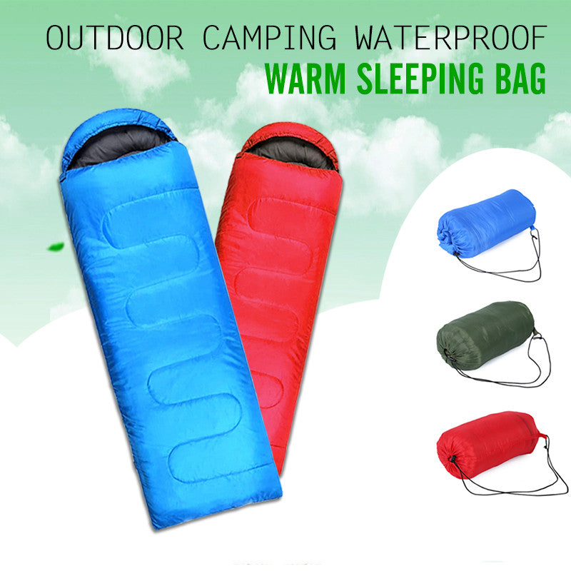Multifuntional Outdoor Thermal Sleeping Bag Envelope Hooded Travel Camping Keep Warm Water Resistant Sleeping Bags Lazy Bag